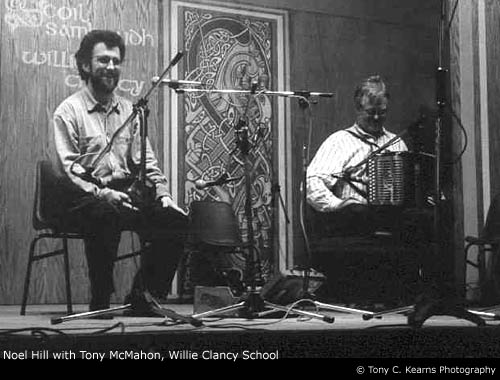 Tony McMahon (button box) and Noel Hill (concertina) at Willie Clancy Summer School